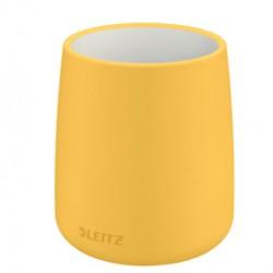 Porta penne Cosy - in ceramica - giallo - Leitz