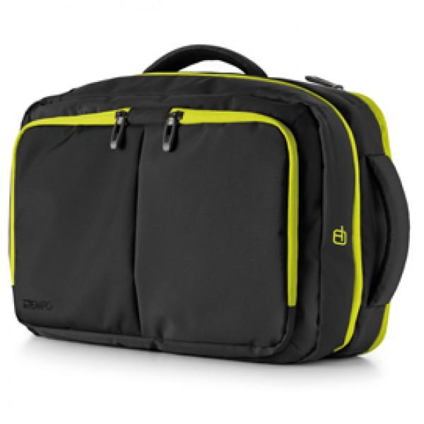 Borsa zainabile bi-bag Blackout - 44 x 28 x 18 cm - nero/giallo - InTempo
