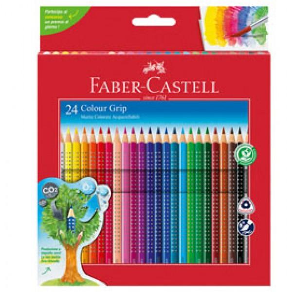 Matite colorate Color Grip - acquerellabili - Faber Castell - scatola 24 pezzi