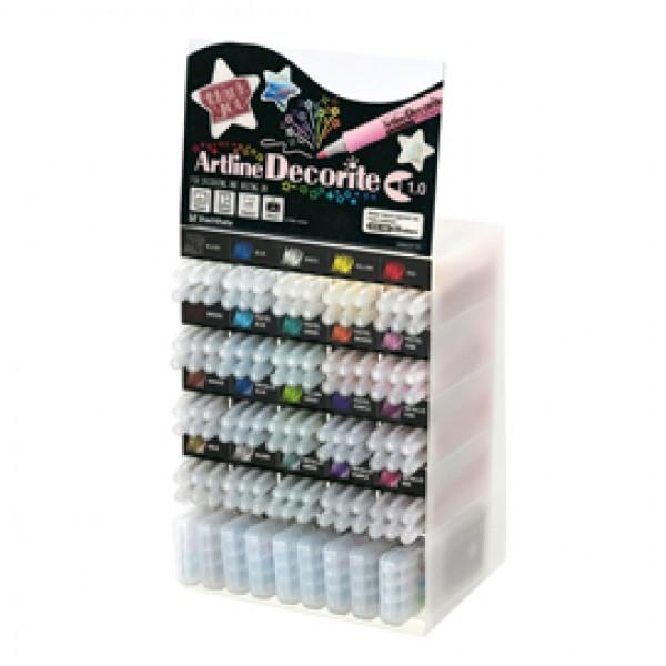 Marcatore Decorite - punta tonda - colori assortiti - Artline - espositore 156 pezzi