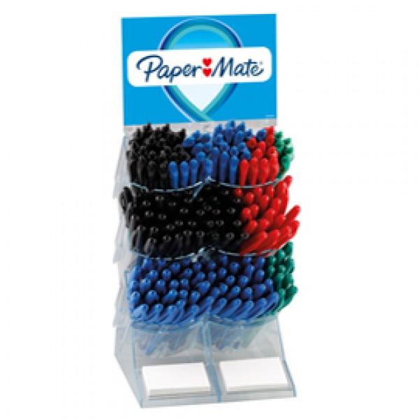 Penna Inkjoy - a scatto / con cappuccio - colori assortiti - Papermate - expo 180 pezzi