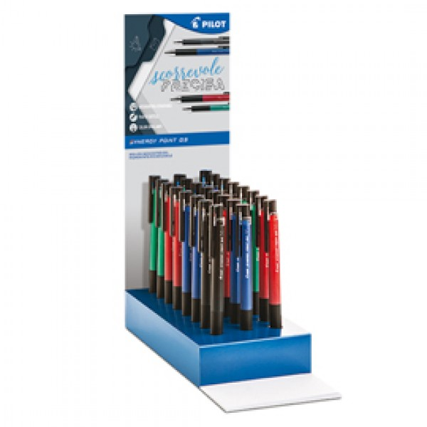 Penna Roller Synergy Point - 0,5 mm - colori assortiti - Pilot - expo 42 pezzi