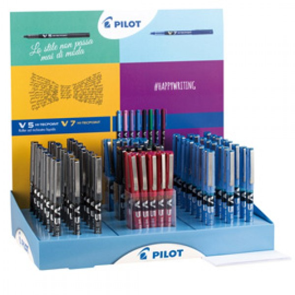 Penna Hi-Tecpoint V5 - colori assortiti - Pilot - expo 60 pezzi