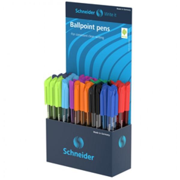Penna sfera Vizz - colori assortiti - Schneider - expo 50 pezzi