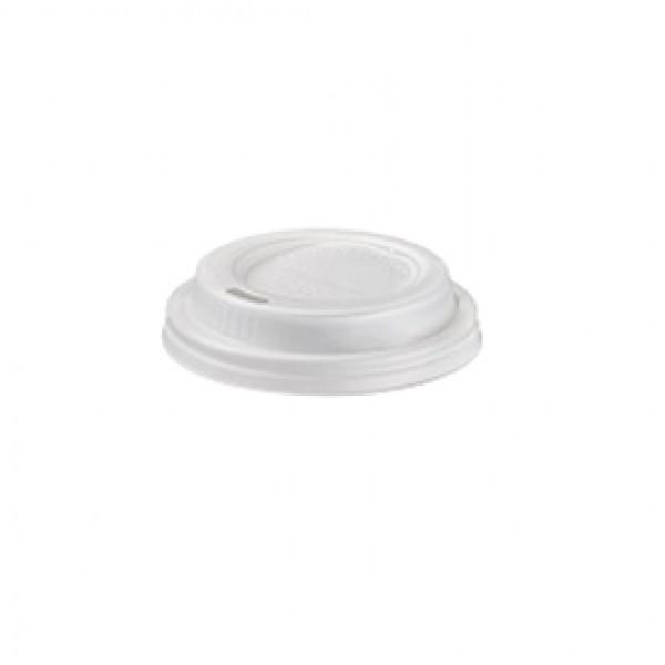 Tappo per bicchiere - in CPLA - bianco - 115 ml - Leone - conf. 1000 pezzi