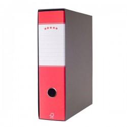 Registratori a leva - protocollo - dorso 8 cm - 23x34 cm - rosso - 943585 (conf.6)