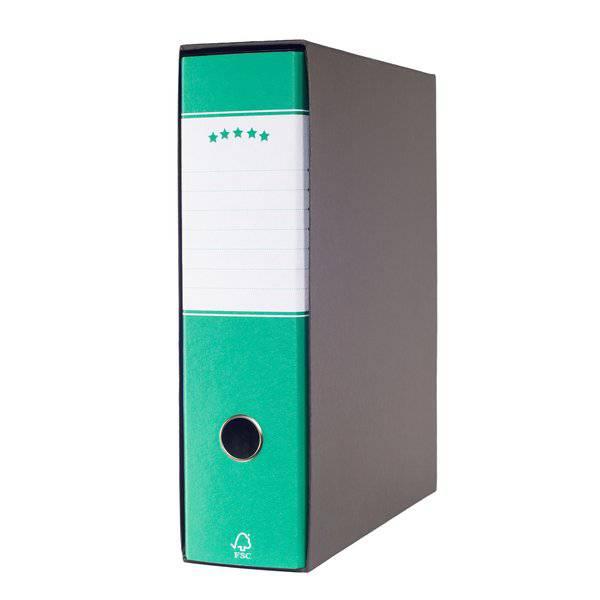 Registratori a leva - protocollo - dorso 8 cm - 23x34 cm - verde - 943586 (conf.6) - 943586