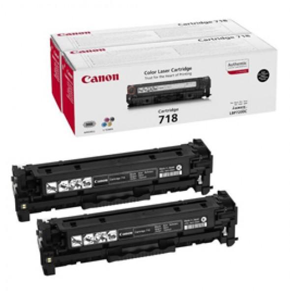 Originale Canon 2662B005 Conf. 2 Toner CRG 718 BK 2P nero - 2662B005