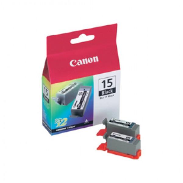 Originale Canon 8190A002 Conf. 2 serbatoi inchiostro BCI-15 BK nero - 8190A002