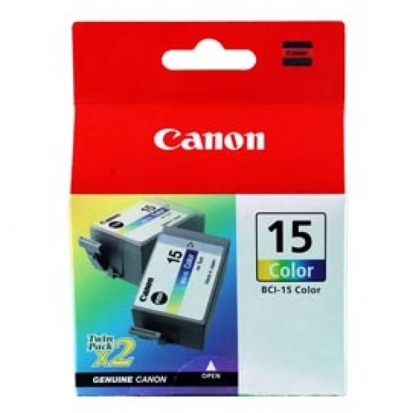 Originale Canon 8191A002 Conf. 2 serbatoi inchiostro BCI-15 C ciano+magenta+giallo - 8191A002