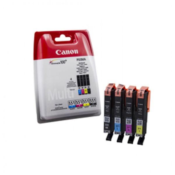 Originale Canon 6509B008 Conf. 4 serbatoi inchiostro blister CLI-551 nero+ciano+magenta+giallo - 6509B008