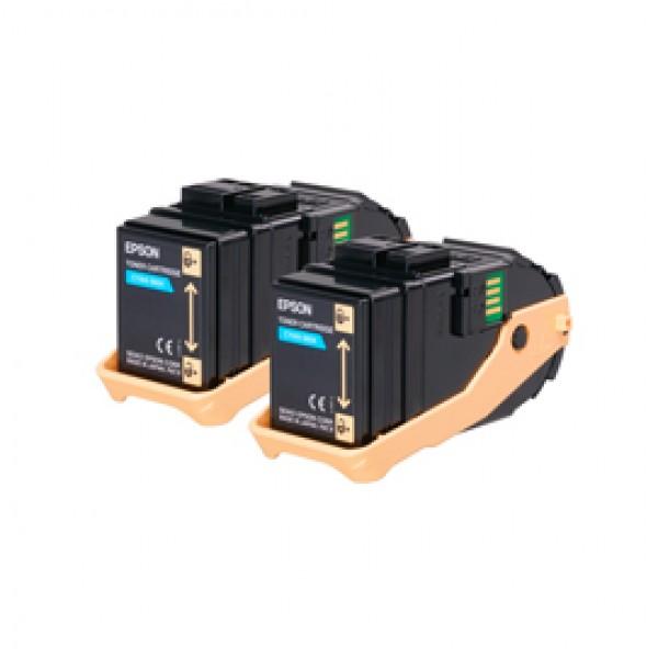 Epson - Toner Confezione doppia - Ciano - S050608 - C13S050608   - 15.000 pag