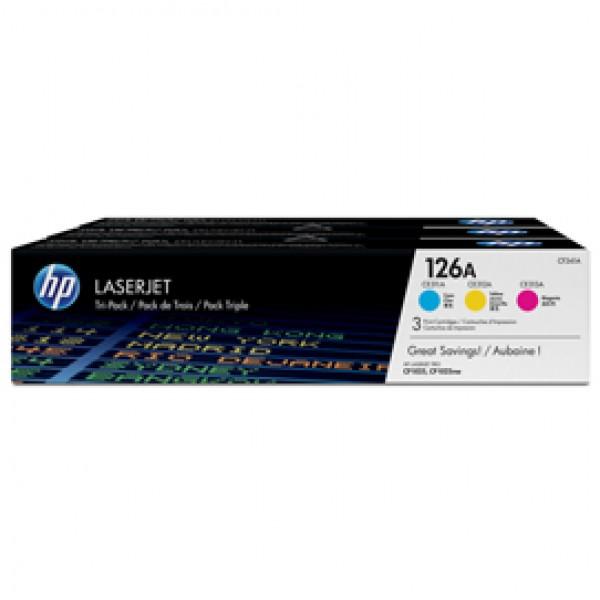 Hp - Toner - 126A - C/M/Y - CF341A - 1.000 pag cad