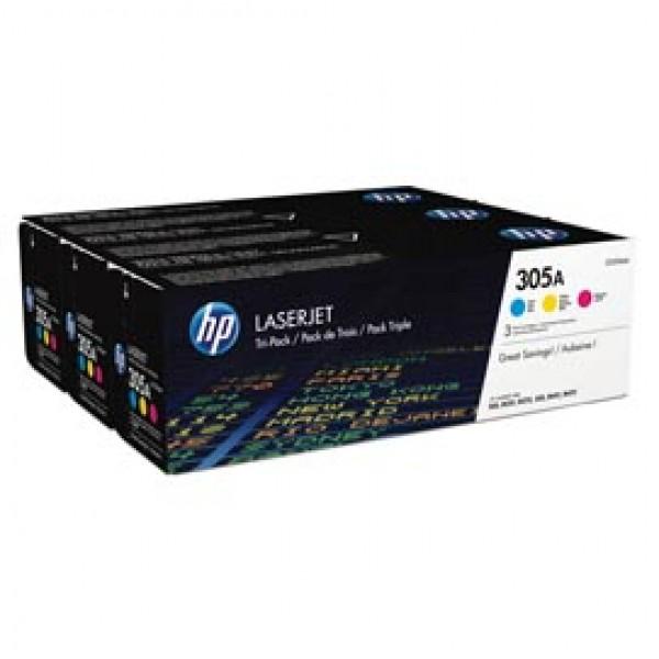 Hp - Confezione 3 Toner - 305A - C/M/Y - CF370AM - 2.600 pag cad