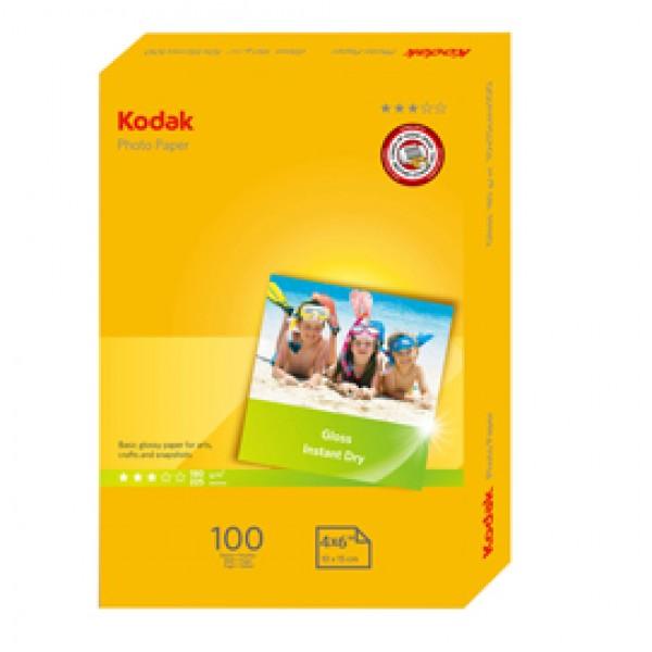 Kodak - Carta fotografica lucida Photo Gloss - 10x15 cm - 180 gr - 100 fogli - 5740-097