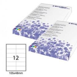 Etichetta adesiva bianca 100fg A4 105x48mm (12et/fg) STARLINE - STL3030