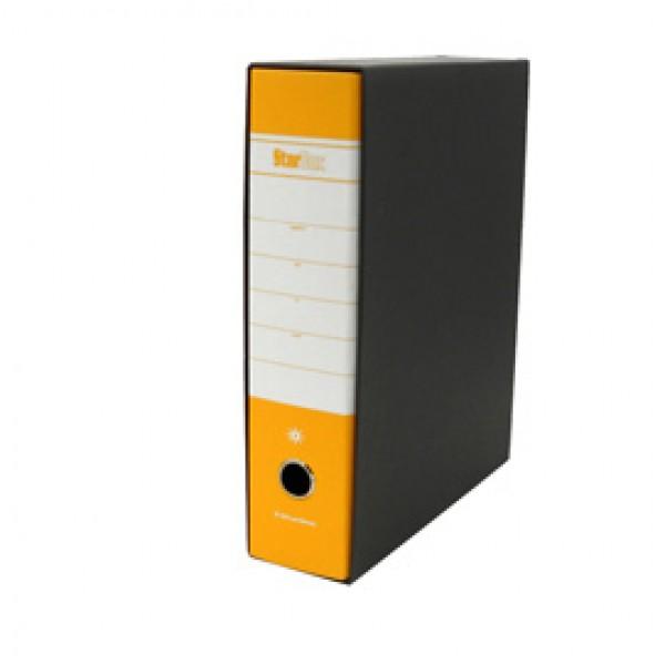 Registratore Starbox - dorso 8 cm - protocollo 23x33 cm - giallo - Starline