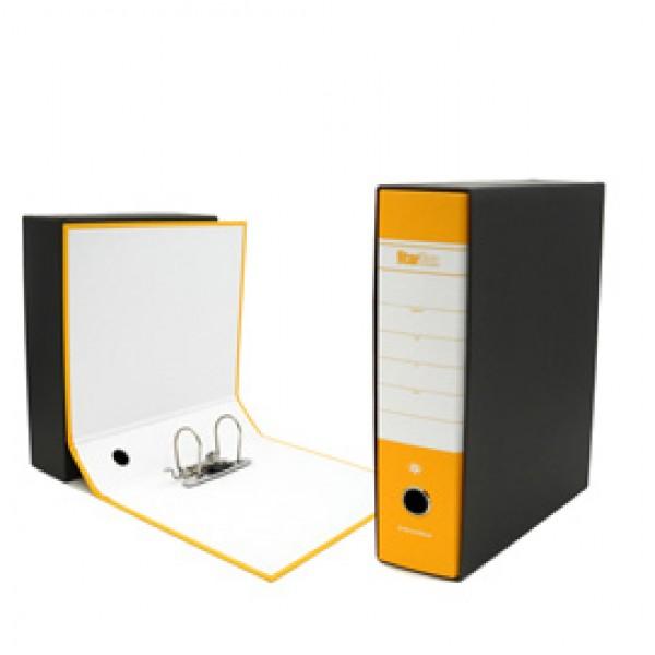 Registratore Starbox - dorso 8 cm - commerciale 23x30 cm - giallo - Starline