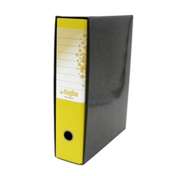Registratore Kingbox - dorso 8 cm - protocollo 23x33 cm - giallo - Starline