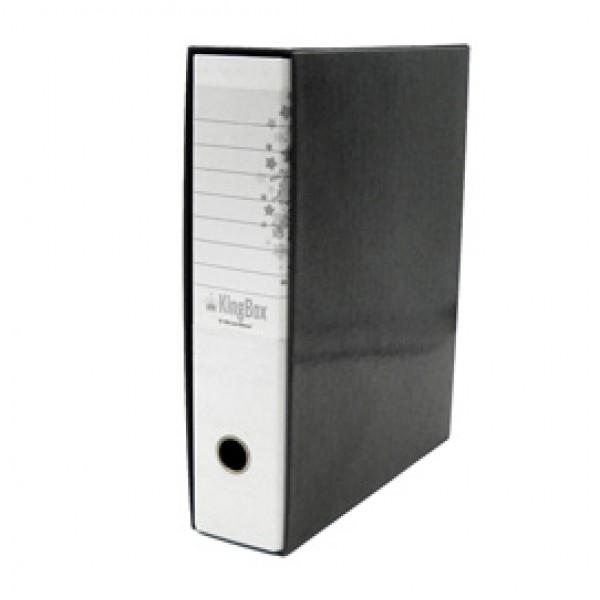 Registratore Kingbox - dorso 8 cm - protocollo 23x33 cm - bianco - Starline