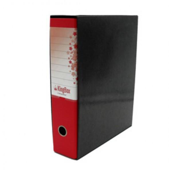 Registratore Kingbox - dorso 8 cm - protocollo 23x33 cm - rosso - Starline