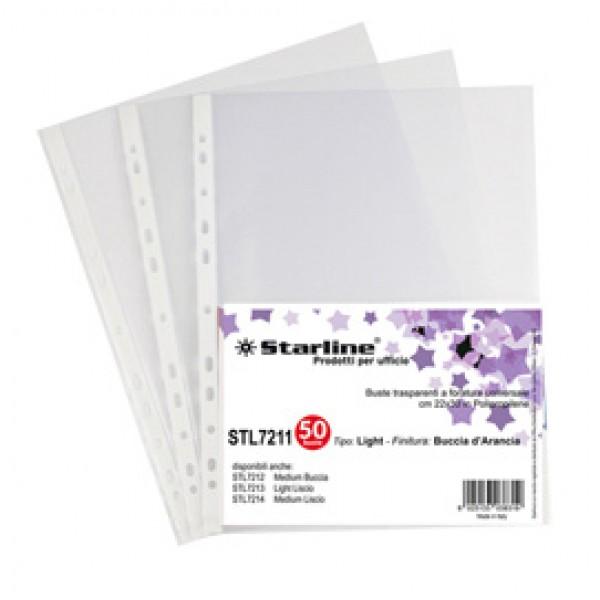 Buste forate Light - buccia - 22 x 30 cm - trasparente - Starline - conf. 50 pezzi