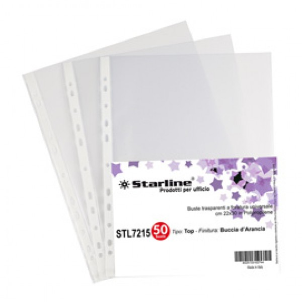 Buste forate Top - buccia - 22 x 30 cm - trasparente - Starline - conf. 50 pezzi