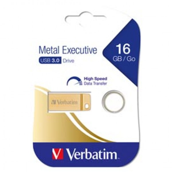 METAL EXECUTIVE USB32.0 DRIVE GOLD 16GB - 99104